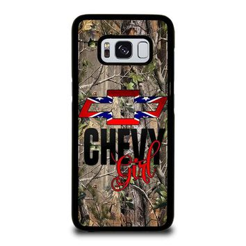 CAMO BROWNING REBEL CHEVY GIRL Samsung Galaxy S8 Case Cover