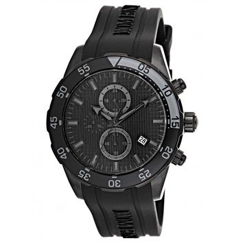 Momentus FS310E-04RB Men's Functional Sport Black Dial Chronograph Black Rubber Strap Watch