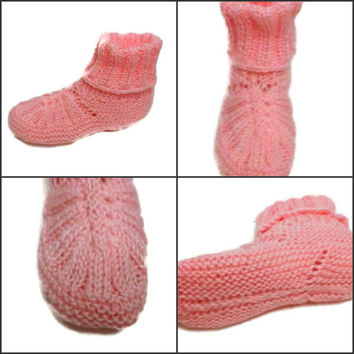 Front Ribbed Booties Slippers Knitting Pattern PDF Knitting Pattern Knitting Shoes, Knitting Booties  PDF File