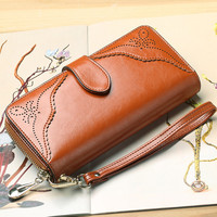 Large Zipper Long Wallet