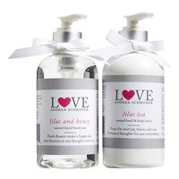 Andrea Schroder 'Love' Lilac Hand Soap & Body Lotion
