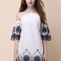 Delicacy of Boho Lace Detached Sleeve Dress