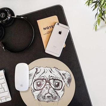 PUG Mouse Pad Mouse Mat Hipster Animal Hipster