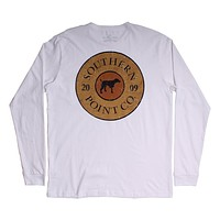 Shotgun Shell Long Sleeve Tee in White by Southern Point - FINAL SALE
