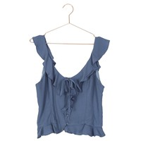 Sleeveless Ruffle Tank