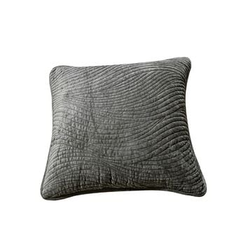 Tache Dark Brown Velvety Dreams Luxury Velveteen Plush Waves Cushion Cover 2 Pieces (JHW-852BR-CC)