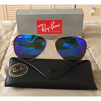 Cheap RayBan Ray-Ban Aviator Gold Frame Blue Lens Sunglasses RB3025 112-17 62mm outlet