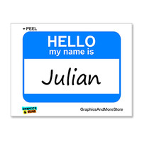 Julian Hello My Name Is Sticker