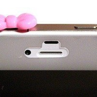 Pink Ribbon Ear Cap / Ear Jack / Dust Plug Fit for iPhone 2g iPhone 3g / 3gs iPhone 4 iPhone 4s