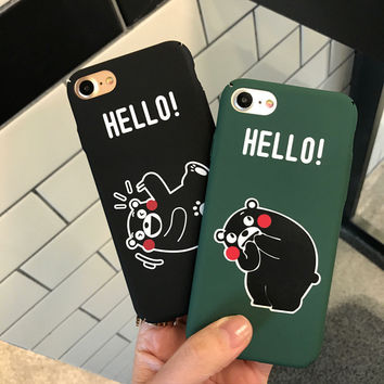 Original Hello Bear Case for iPhone 7 7Plus & iPhone se 5s 6 6 Plus High Quality Cover +Gift Box