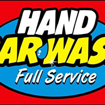 Hand Car Wash Full Sevice 3'X5' Flag Banner Signs