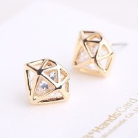 Fashion Diamond Statement Earrings