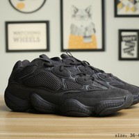 Adidas  Yeezy Boost 500  Black Casual Running Shoes