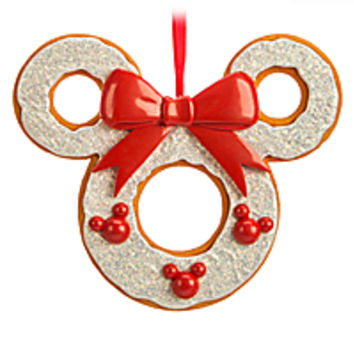 Mickey Mouse Gingerbread Filigree Wreath Ornament