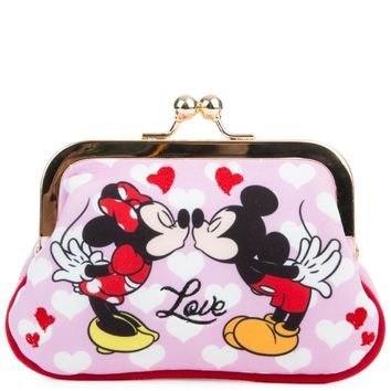 Beauty Ticks Irregular Choice Mickey Mouse & Friends Collection Women's Love N Kisses Pink Coin Purse