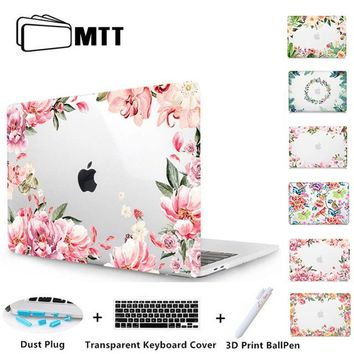 MTT Floral Laptop Case For Macbook Air Pro Retina 11 12 13 15 inch Cover for macbook 15.6 With Touch Bar Laptop Sleeve