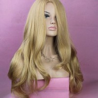 Long Light Curly Wig Full Wavy Women Wig Like Real Human Hair