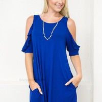 Eco-Green Pocket Dress | Cobalt Blue