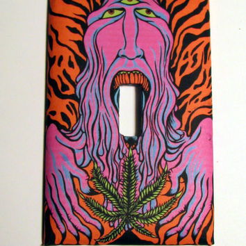 Light Switch Cover - Light Switch vintage psychedelic poster