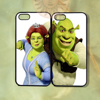 Shrek and Fiona Couple Case-iPhone 5, iphone 4s, iphone 4 case, ipod 5, Samsung GS3-Silicone or Hard Plastic Case, Phone cover