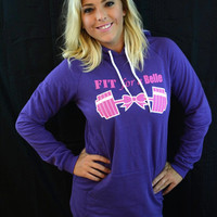 FFAB Purple Hoodie Dress