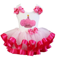 Birthday Cupcake Top and Tutu Skirt Infant Baby & Toddler Girls