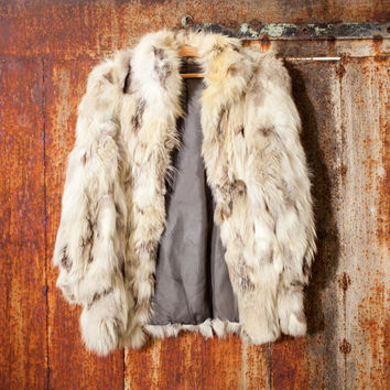 Vintage woman's fox fur coat arctic fox coat white fox fur coat genuine leather coat boho coat soviet fox coat woman fox leather winter coat