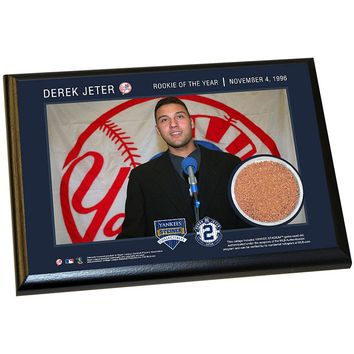 Steiner Sports New York Yankees Derek Jeter Moments 1996 Rookie of the Year 5'' x 7'' Plaque with Authentic Field Dirt (Ynk Team)