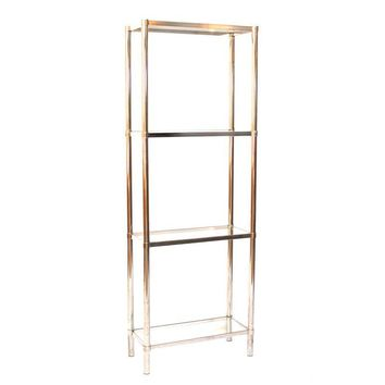 Pre-owned 1970s Chrome & Glass 4-Tier Etagere