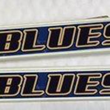 2 St. Louis Blues White License Plate Frame NEW Auto Truck  SHIP NHL