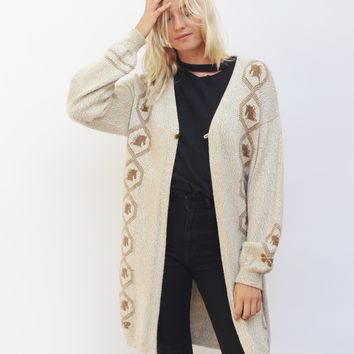 Brown and Biege Nordic Sweater