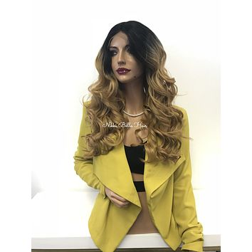 Dark blond ombre lace front wig - Smiling Outside