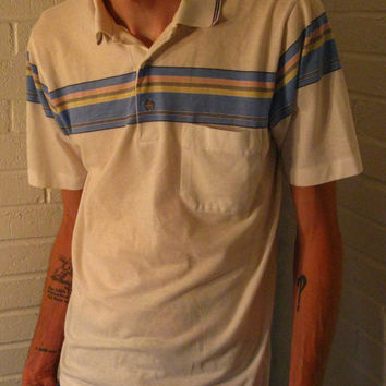 Awesome 1980s Jantzen Knit Polo Shirt. Size Small-Medium. Hipsters dream.