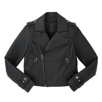 BIKER MATTE LEATHER JACKET