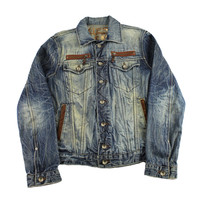 GUESS Premium Denim Jacket Made in USA Mens Size Small