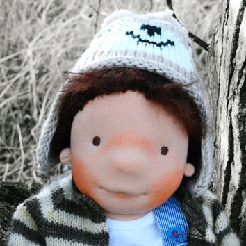 Waldorf doll, doll waldorf, waldorf boy doll, waldorf inspired, doll, steiner doll, OOAK doll, fabric doll, cloth doll, gift for kids