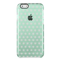 Trendy,mint polka dot,pattern,girly,modern,vintage uncommon clearly™ deflector iPhone 6 case