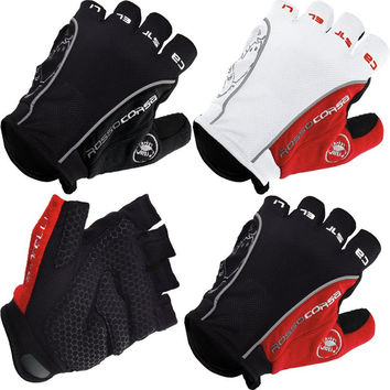 CASTE Bike Bicycle Fingerless Cycling Gloves for Racing Motorcycle Mountain Sports in 2 Colors 3 Sizes M L XL send in 5 days