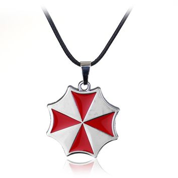 Fashion Jewelry Resident Evil Umbrella Charms Necklace Pendant For Men And Women Accessories