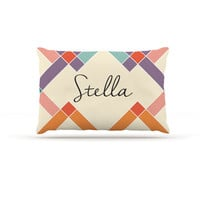 "KESS Original ""Stella"" Colorful Geometry Dog Bed"