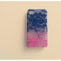 Ombre Iphone Lace Case Lipstick and Lingerie