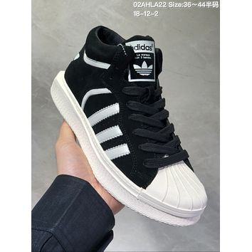 HCXX A488 Adidas Varial High Suede Casual Skate Shoes Black