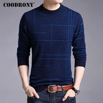 Men Knitted Sweaters Winter Thick Warm Merino Wool Pullover Men Casual O-Neck Pull Jumper Sweater