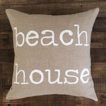 Maka Sea - Beach House Pillow | White