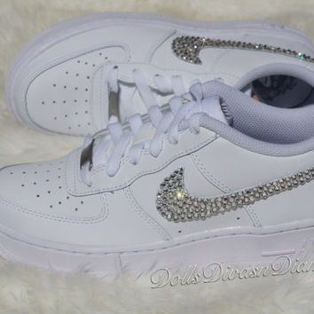 Limited Nike Air Force Ones Embellished with Swarovski Element Crystals 2637162773ec