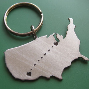Custom Long Distance Love Keychain
