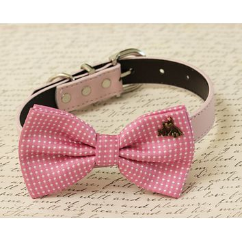 Pink dog bow tie collar, I Love my dog, Polka dots, Dog lovers, Birthday gift