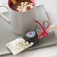 Two Hot Chocolate Dippers With Marshmallows