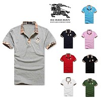 hot sale burberry men polo shirt 100 cotton top