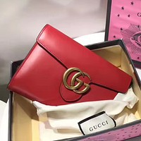 Gucci women trendy fashion handbag clutch bag shoulder bag F-MYJSY-BB Grey